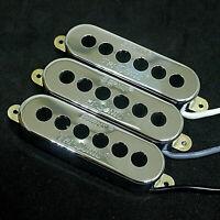 Alnico V Burns Style Tri-Sonic Single Coil Pickup Set Neck Middle Bridge- CHROME