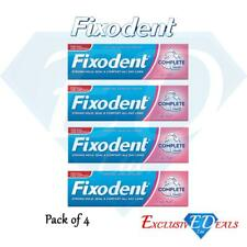 4 x Fixodent Cream Complete Strong Hold Adhesive Denture Cream Original 47g