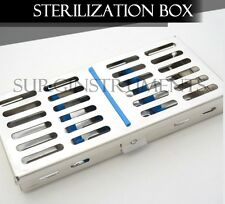 10 Dental Autoclave Sterilization Cassette Rack Box Tray for 10 Instrument 5 X 7