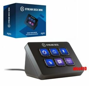 Elgato Stream Deck Mini Live Content Creation Controller 6 Customizable LCD Keys