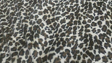 "Leopard Faux Fur Throw Blanket reversible to Black Bridal Satin 54"" x 60"""