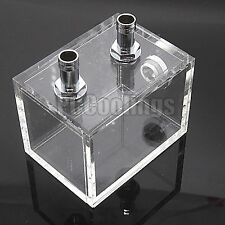 PC Liquid Cooling 250ml Water Tank Reservoir G1/4 Threaded 80mmx 80mmx60mm USA