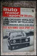 AMS Auto Motor Sport 15/65 Alfa Giulia Sprint GTA BMW 1500 DB 190 TR 4A