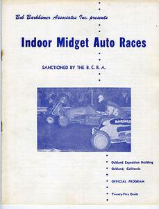 1956 Program Indoor Midget Auto Races Oakland Exposition Building CA