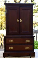 "Vintage Mahogany Armoire/Wardrobe for Doll or Child  25"" x 15"" x 7 3/4"""