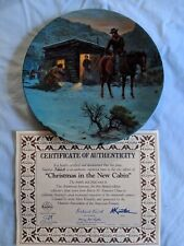 Edwin M. Knowles China Christmas At The New Cabin Collector's Plate