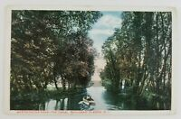 Postcard Westminster Park Canal Thousand Island New York Boating 1919