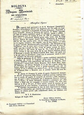 S271-STATO PONTIFICIO-BRIGANTI-FURTI CASTELBOLOGNESE-BUDRIO