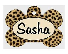 Personalized PET ID TAGS Custom LEOPARD Theme Any Name Dog Tag Printed 2 Sides