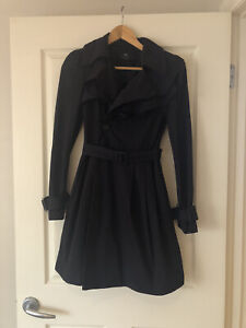 Cue Clothing Co Black Trench Coat Size 6
