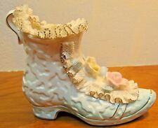 vintage lady shoe porcelain, hand painted and made in Japan made by tilso