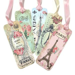 NEW Bookmarks Paris Eiffel Tower-French Favour -Book Lover- Diary- Teacher Gift