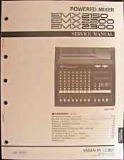Yamaha Emx2150 Emx2200 Emx2300 Mixers Original Service Manual, Schematics Book