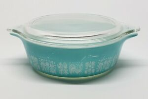 1 Pint with Pyrex Glass Lid 470-C Vintage Retired Pyrex Butterfly Gold Cinderella Casserole 471