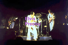ELVIS PRESLEY WITH YELLOW SCARF JACKSONVILLE FL 4/16/72 CONCERT PHOTO CANDID