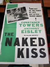 Vintage 1 sheet Movie Poster Naked Kiss 1964 Constance Towers Anthony Eisley