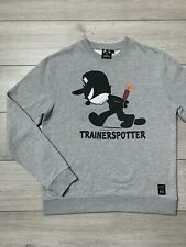 Mens TRAINERSPOTTER x FELIX THE CAT Crew Neck Jumper Sweatshirt | Large L | Grey