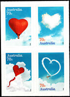 Australia 2015 Love is in the air - block of 4 stamps Self Adhesive, MNH