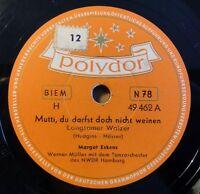 """Margot Eskens - Mutti, du darfst... - Der Student... - Polydor /10"""" 78 RPM (8161"""