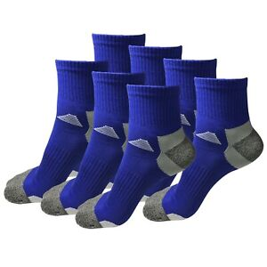 7 Pairs Mens Mid Cut Ankle Quarter Athletic Casual Sport Cotton Socks Size 6-12