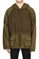 Haider Ackermann Oversized Khaki Military Perth with Contrast Panels 2017 Hoodie