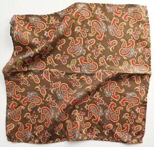 Small Paisley pocket handkerchief 10 inches square traditional hankie o