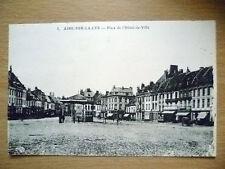 Postcard-5. PLACE DE I'HOTEL DE VILLE(I'Hotel PLACE CITY)AIRE SUR LA LYS, FRANCE