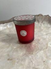 Sand And Fog CHRISTMAS BALSAM & CEDAR RED GLASS Candle With Tin Lid 4oz