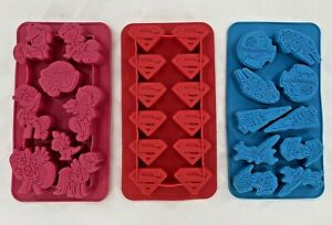 Jello Chocolate Ice Cube Food Silicone Molds Lot of 3 Superman Star Wars Pony