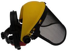 Face Shield Steel Mesh Visor & Ear Muff Mask For STRIMMER BRUSHCUTTER