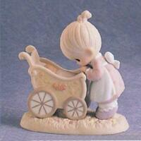 PRECIOUS MOMENTS FIGURINE #524360 - SOMETHING PRECIOUS FROM ABOVE (OPEN BOX)