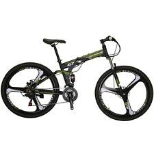 Full Suspension Folding Mountain Bike 27.5 21 Speed Armygreen  Mens Bicycle