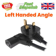 More details for power cord uk plug to right angled iec c13 cable kettle left or right hand angle
