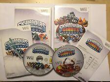 2x NINTENDO Wii GAMES  SKYLANDERS SPYRO'S ADVENTURE + GIANTS BOTH COMPLETE PAL