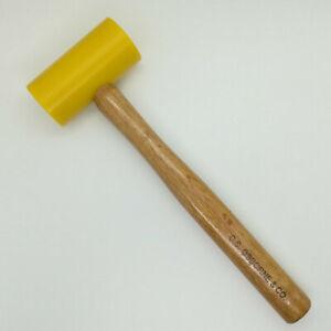 Yellow handle double head martillo para tallar cuero resistente Martillo para artesan/ía en cuero