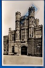 VINTAGE RP POSTCARD GATEHOUSE COUGHTON COURT WARWICKSHIRE NR ALCESTER STUDLEY