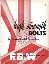 MRO Brochure - Russell Burdsall Ward - High Strength Bolts Steel c1952 (MR206)