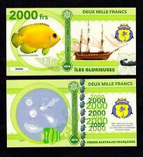ILES GLORIEUSES ● TAAF / COLONIE ● BILLET POLYMER 2000 FRANCS ★ N.SERIE 000006
