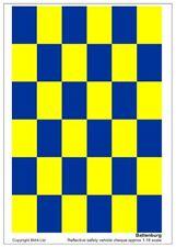 Azul Y Amarillo Reflectante Battenburg 1:18 escala hoja de calcomanías de vinilo para los modelos