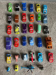Disney pixar CARS diecast bundle Some Rare Lightning McQueen Tractor Dinoco X 34