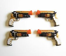 """4 New Battery Operated Pistols 9"""" Handgun Action Revolver With Lights And Sound"""