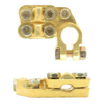2X Heavy Duty Brass Battery Top Post Cable Terminal Wire Terminals 5 Screw M6/M8