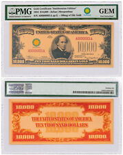 $10,000 Gold Certificate Smithsonian Edition 1934 PMG GEM Unc SKU54539