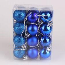 24Pcs Christmas Balls Ornaments Shatterproof Xmas Trees Wedding Tree Decor P1