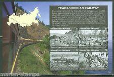MICRONESIA  2015  TRANS-SIBERIAN  RAILWAY  SHEET   MINT NH