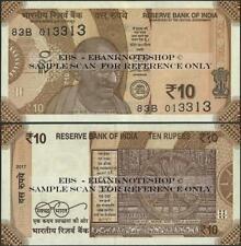 2 Consecutive,India,Pnew,10 Rupees ,2017 ,Gandhi,Sun Temple - Ebanknoteshop
