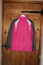 Ladies Size medium fit 10-12-14 Ski Jacket Pink and Grey great for outdoor wear