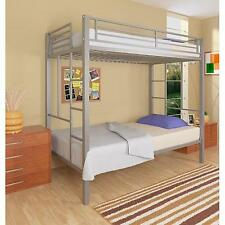 Your Zone Twin Over Metal Bunk Bed, Silver