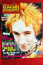 SEX PISTOLS ON COVER TANGERINE DREAM 1978 GRAHAM PARKER GERMAN MAGAZINE