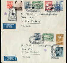 AUSTRIA to INDIA AIRMAIL 1962 SPECIAL CANCELS MULTI FRANKINGS SALZBURGER